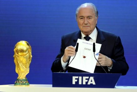 Sepp Blatter announcing the World Cup 2022 in Qatar