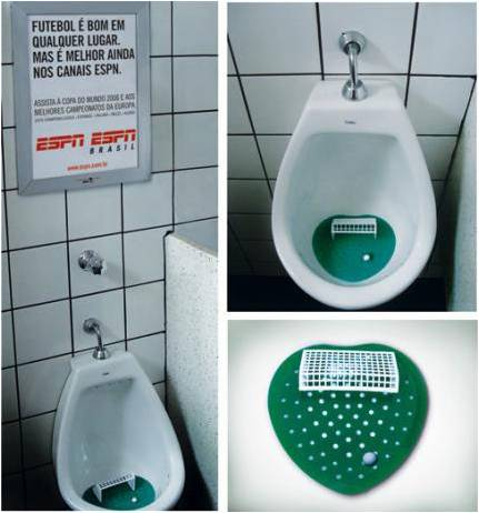 ESPN Brazil Urinals